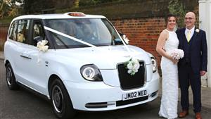 London Taxi Electric Wedding car. Click for more information.