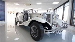 Beauford Open Tourer Wedding car. Click for more information.
