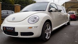 VW Beetle Limousine Wedding car. Click for more information.