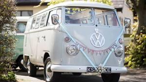 VW Campervan 1967 Split Screen Wedding car. Click for more information.