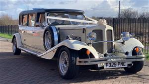 Beauford Limousine Wedding car. Click for more information.