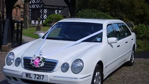 Mercedes S Class Limo Wedding car. Click for more information.