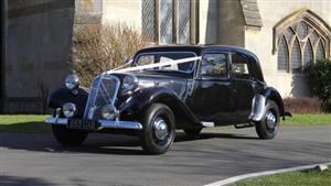 Citroen Traction Avant Slough Big 15 Wedding car. Click for more information.