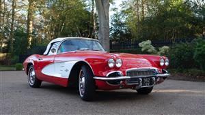 Chevrolet Corvette Wedding car. Click for more information.