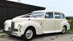 Humber 1949 Pullman Wedding car. Click for more information.