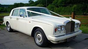 Rolls Royce 1979 Silver Shadow II Wedding car. Click for more information.