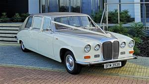 Daimler 1981 DS420 Wedding car. Click for more information.