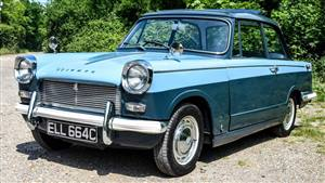 Triumph 1965 Herald 12/50 Wedding car. Click for more information.