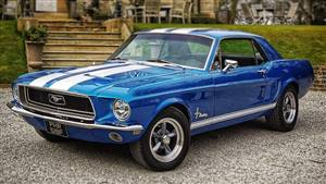 Ford 1968 Mustang Wedding car. Click for more information.