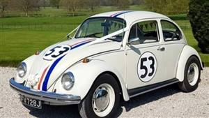 VW Herbie Beetle Wedding car. Click for more information.