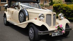 Beauford Open Top Tourer Wedding car. Click for more information.