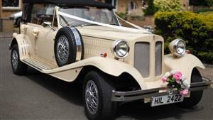 Beauford Open Top Tourer Wedding car. Click for more information.