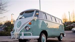 VW Split Screen Campervan Wedding car. Click for more information.