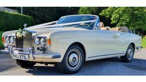 Rolls Royce Corniche Convertible Wedding car. Click for more information.