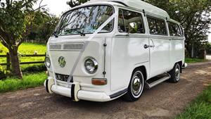 VW Campervan Early Bay Window Wedding car. Click for more information.