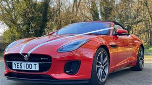 Jaguar F-Type Wedding car. Click for more information.
