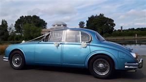 Jaguar Mark 2 4.2L 1966 Wedding car. Click for more information.