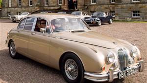 Jaguar Mk. 2 3.8L Wedding car. Click for more information.