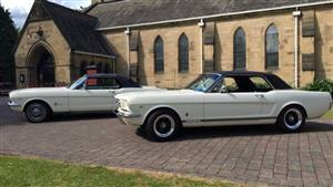 Ford Mustang 1966 Wedding car. Click for more information.