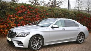 Mercedes S Class Wedding car. Click for more information.