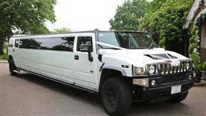 Hummer H2 Wedding car. Click for more information.