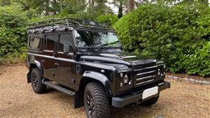 Land Rover Defender 110 Wedding car. Click for more information.