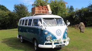 VW Campervan 1966 Split Screen Wedding car. Click for more information.