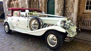 Beauford Tourer Wedding car. Click for more information.