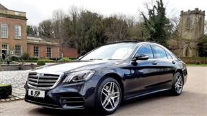 Mercedes  S Class AMG Line Wedding car. Click for more information.