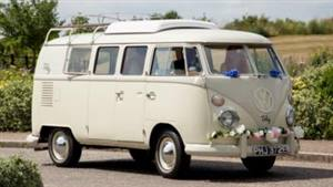 VW Campervan 1967 Split Screen Wedding car. Click for more information.