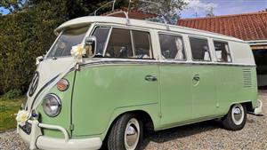 VW 1966 Split Screen Camper Wedding car. Click for more information.