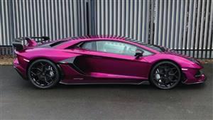 Lamborghini Aventador SVJ Wedding car. Click for more information.