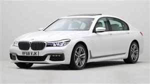 BMW 740LD M Sport Wedding car. Click for more information.