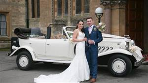 Beauford Tourer - Jasmine Wedding car. Click for more information.