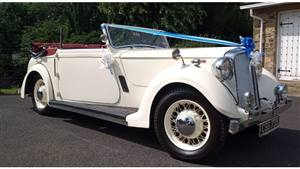 Rover Salmons Tickford Drop Head Coupe Wedding car. Click for more information.
