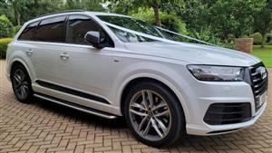 Audi Q7 Wedding car. Click for more information.