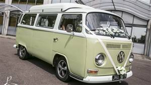 VW Campervan Bay Window Wedding car. Click for more information.