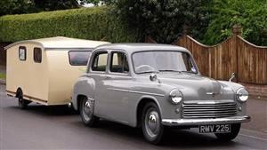 Wrigley Wessex Craftsman Caravan Wedding car. Click for more information.