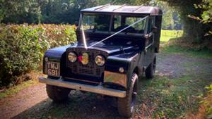 Land Rover 1958 Series 1 Wedding car. Click for more information.