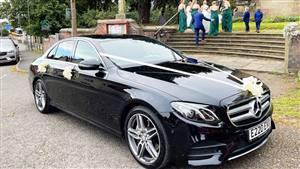 Mercedes E Class AMG Line Wedding car. Click for more information.