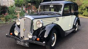 Wolseley 1938 18/85 Super Six  Wedding car. Click for more information.