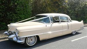 Cadillac Fleetwood Wedding car. Click for more information.