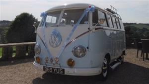 VW Campervan 1958 Splitscreen Wedding car. Click for more information.
