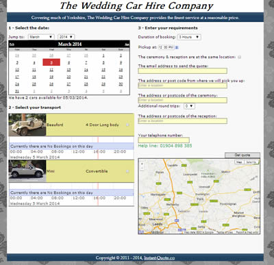 Wedding Car Quotation Management  Booking Software